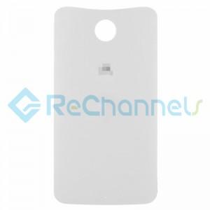 For Motorola Nexus 6 Battery Door Replacement - White- Grade S+