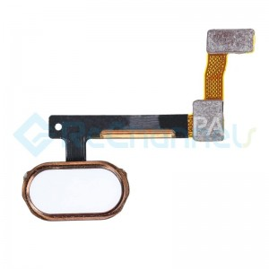 For OPPO R9 Plus Home Button Flex Cable Replacement - Rose - Grade S+