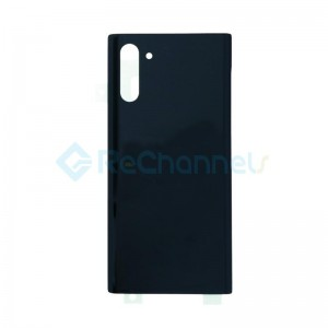 For Samsung Galaxy Note 10 Battery Door Replacement - Aura Black - Grade S+