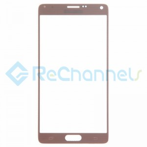 For Samsung Galaxy Note 4 Series Glass Lens Replacement - Gold - Grade S+