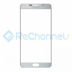 For Samsung Galaxy Note 5 Series Glass Lens Replacement - Silver - Grade S+