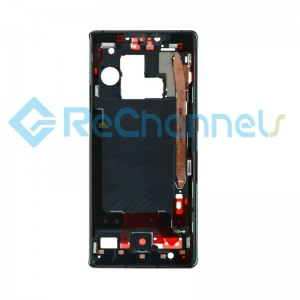 For Huawei Mate 30 Pro/Mate 30 Pro 5G Front Housing Replacement - Black - Grade S+