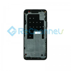 For Huawei P40 Lite 5G Front Housing Replacement - Black - Grade S+
