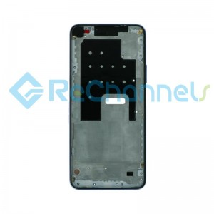 For Huawei P40 Lite 5G Front Housing Replacement - Silver - Grade S+