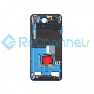 For Huawei P40 Front Housing Replacement - Blue - Grade S+