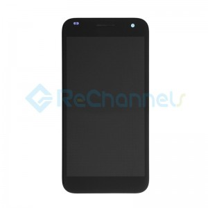 For Huawei Ascend G7 LCD Screen and Digitizer Assembly with Front Housing Replacement - Black - Grade S