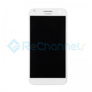 For Huawei Ascend G7 LCD Screen and Digitizer Assembly with Front Housing Replacement - White - Grade S