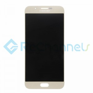For Samsung Galaxy A8 SM-A800 LCD Screen and Digitizer Assembly Replacement - Gold - Grade S+
