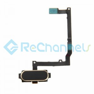 For Samsung Galaxy A9 (2016) Home Button With Flex Cable Ribbon Replacement - Gold - Grade S+