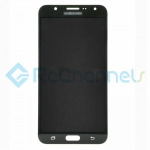For Samsung Galaxy J7 SM-J700F LCD Screen and Digitizer Assembly Replacement - Black - Grade S+