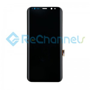 For Samsung Galaxy S8+ LCD and Digitizer Assembly Replacement - Black - Grade S+