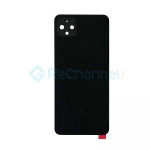 For Google Pixel 4 XL Battery Door Replacement - Black - Grade S+