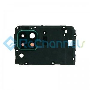 For Huawei P40 Lite Motherboard Retaining Bracket with Camera Lens and Bezel Replacement - Green - Grade S+