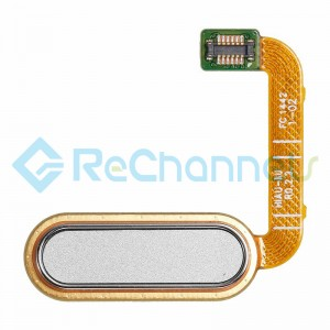For HTC One A9 Home Button Flex Cable Ribbon Replacement - White - Grade S+