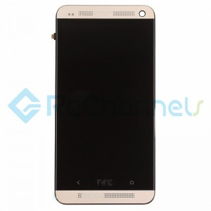 For HTC One LCD Screen and Digitizer Assembly with Front Housing Replacement - Goldr - Grade S+