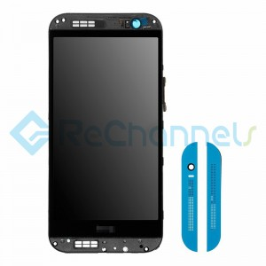For HTC One M8 LCD Screen and Digitizer Assembly with Front Housing Replacement - Blue - Grade S+