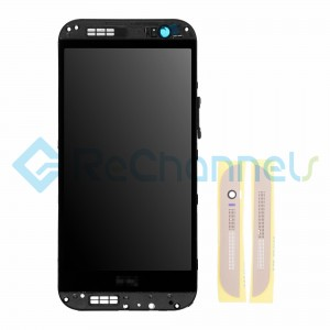 For HTC One M8 LCD Screen and Digitizer Assembly with Front Housing Replacement - Gold - Grade S+