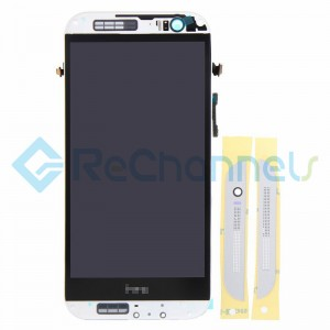 For HTC One M8 LCD Screen and Digitizer Assembly with Front Housing Replacement - Silver - Grade S+