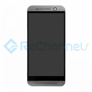 For HTC One M9 LCD Screen and Digitizer Assembly with Front Housing Replacement - Black - Grade S+