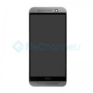 For HTC One M9 LCD Screen and Digitizer Assembly with Front Housing Replacement - Gray - Grade S+