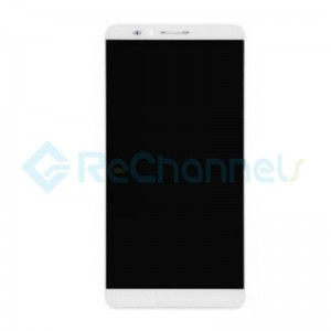 For Huawei Ascend Mate7 LCD Screen and Digitizer Assembly with Front Housing Replacement - White - Grade S