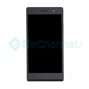For Huawei Ascend P7 LCD Screen and Digitizer Assembly with Frame Replacement - Black - Grade S