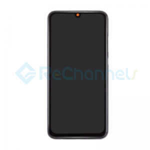 For Huawei Honor 10 Lite LCD Screen and Digitizer Assembly with Front Housing Replacement - Black - Grade S+