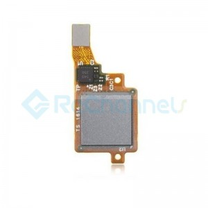 For Huawei Honor 7 Fingerprint Sensor Flex Cable Ribbon Replacement - Silver - Grade S+
