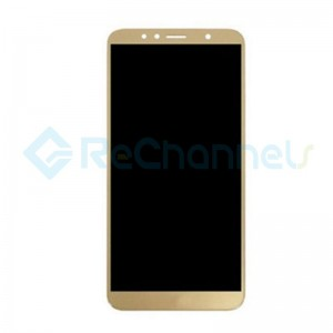 For Huawei Honor 7A LCD Screen and Digitizer Assembly with Front Housing Replacement - Gold- Grade S