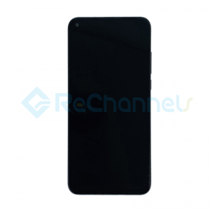 For Huawei Honor View 20 LCD Screen and Digitizer Assembly with Front Housing Replacement - Black - Grade S+