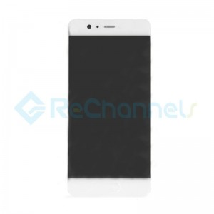 For Huawei P10 LCD Screen and Digitizer Assembly with Front Housing Replacement - White - Grade S