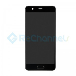 For Huawei P10 Plus LCD Screen and Digitizer Assembly with Front Housing Replacement - Black - Grade S+