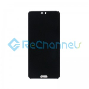 For Huawei P20 LCD Screen and Digitizer Assembly Replacement - Black - Grade S