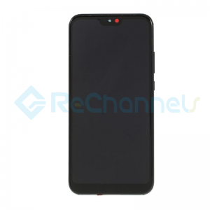 For Huawei P20 lite LCD Screen and Digitizer Assembly with Front Housing Replacement - Black - Grade S+