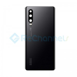 For Huawei P30 Battery Door Replacement - Black - Grade S+