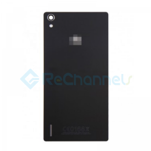 For Huawei P7 Battery Door Replacement - Black - Grade S+