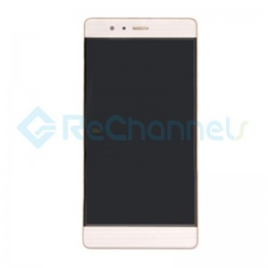 For Huawei P9 LCD and Digitizer Assembly with Front Housing Replacement - Gold - Grade S