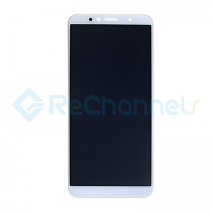 For Huawei Y6 2018 LCD Screen and Digitizer Assembly Replacement - White- Grade S+
