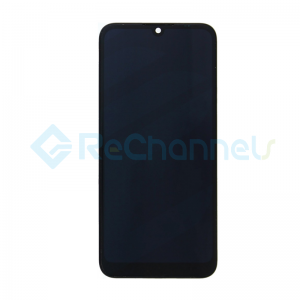 For Huawei Y6 2019 LCD Screen and Digitizer Assembly with Front Housing Replacement - Black - Grade S+