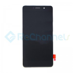 For Huawei Y7 (Enjoy 7 Plus) LCD Screen and Digitizer Assembly with Front Housing Replacement - Black - Grade S