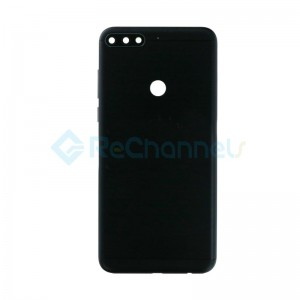 For Huawei Honor 7C Battery Door Replacement - Black - Grade S+