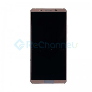 For Huawei Mate 10 Pro LCD Screen and Digitizer Assembly with Front Housing Replacement - Mocha Brown - Grade S+