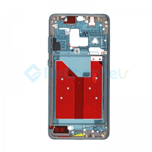 For Huawei Mate 20 Front Housing LCD Frame Bezel Plate Replacement - Emerald Green - Grade S+