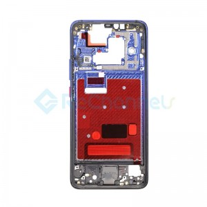 For Huawei Mate 20 Pro Front Housing LCD Frame Bezel Plate Replacement - Twilight - Grade S+