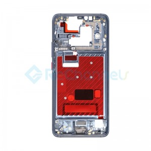 For Huawei Mate 20 Pro Front Housing LCD Frame Bezel Plate Replacement - Midnight Blue - Grade S+