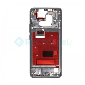 For Huawei Mate 20 Pro Front Housing LCD Frame Bezel Plate Replacement - Black - Grade S+