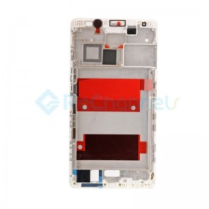 For Huawei Mate 8 Front Housing LCD Frame Bezel Plate Replacement - White - Grade S+