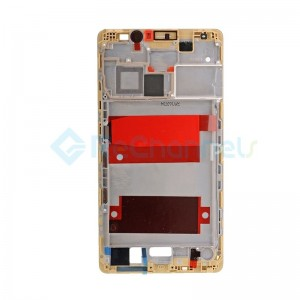 For Huawei Mate 8 Front Housing LCD Frame Bezel Plate Replacement - Gold - Grade S+