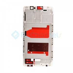 For Huawei Mate 9 Front Housing LCD Frame Bezel Plate Replacement - White - Grade S+