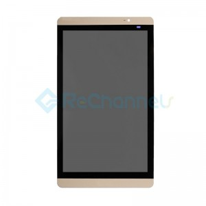For Huawei Mediapad M2 8.0 LCD Screen and Digitizer Assembly Replacementt - Gold - Grade S